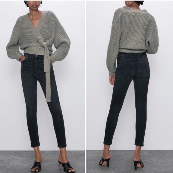 Zara | Premium High Waist Skinny Jeans Black